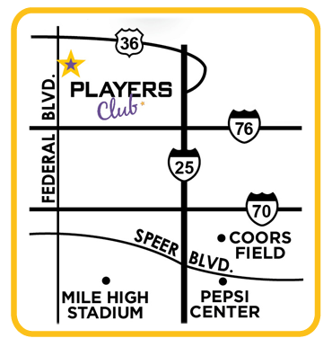 Denver Strip Bar Map - 6710 N. Federal Blvd., Denver, Colorado